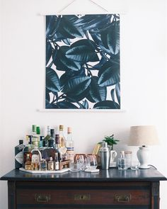 Bar cart style - Paris map print @catesthill | LIVING ROOM IDEAS ...