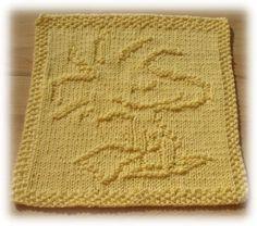 Free+Knitting+Pattern+-+Dishcloths+%26+Washcloths+%3A+Woody+Dishcloth