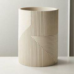 Modern Bathroom Accessories, Bath Accessories, Metal Baskets, Storage Baskets, Ceramic Pottery, Ceramic Art, Slab Pottery, Thrown Pottery, Pottery Vase