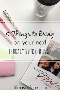 If you& in college, you& guaranteed to have a library study day. Nothing but you and your text books for 9 straight hours of binge-studying. Here are some great tips to make sure you stay productive and have fun doing it! Read the rest at Life as a Dare College Hacks, College Essentials, School Hacks, Studying In College, College Necessities, College Quotes, College Dorms, College Board, State College