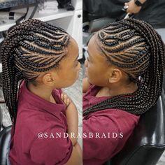 65 Badass Box Braids Hairstyles That You Can Wear Year-Round - Hairstyles Trends Cornrow Mohawk, Braided Cornrow Hairstyles, African Braids Hairstyles, Cornrows, Wig Hairstyles, Braided Updo, Braided Mohawk Black Hair, Braids For Black Hair, Mohawk Styles