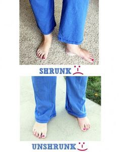 How To Un-Shrink Clothes