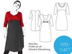 Papierschnitt Empire-Kleid von schnittbox : version pull