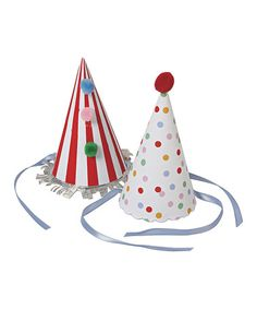 Love this Toot Sweet Party Hat - Set of Eight on #zulily! #zulilyfinds