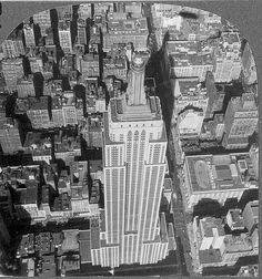 1930s | Rare 1930s Empire State Building Stereo View Aerial Close-Up of from ...