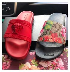 Versace/Gucci Blooms Slides Bundle Brand new 2017 Brand New Sneakers Deadstock AUTHENTIC Womens & Mens Sizes For Sale Dustbags . Tags And Original Boxes 📦 Included any Questions for Sizeing✏ ➡T ▶x ➡T⬅ For sizing and Questions Authentic Gucci Shoes Cute Sandals, Cute Shoes, Shoes Sandals, Flats, Cute Slippers, Fresh Shoes, Unique Shoes, Sneaker Heels, New Sneakers