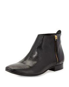 Belmont Leather Zip Bootie by Cole Haan at Neiman Marcus.
