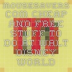 MouseSavers.com - Cheap and FREE Stuff to Do at Walt Disney World