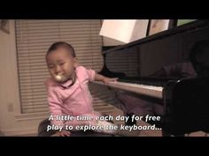 Baby Olivia's reminder to start piano early