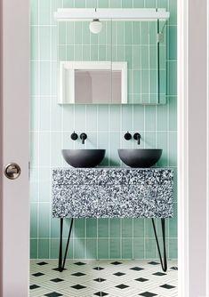 Dream Bathroom I Bathroom Color Palette I Modern Bathroom Design I Bathroom Decor I Bathroom Decorating Ideas I Dream Bathroom I Dream Home Bad Inspiration, Bathroom Inspiration, Bathroom Ideas, Mint Bathroom, Master Bathroom, Bathroom Mirrors, Bathroom Black, Bathroom Modern, Remodel Bathroom