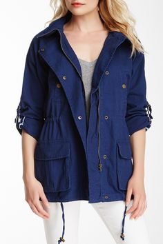 Willow & Clay | Canvas Tab Sleeve Jacket | Nordstrom Rack  Sponsored by Nordstrom Rack.
