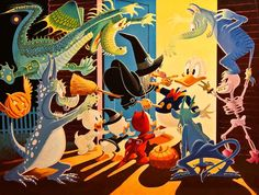 Halloween in Duckburg - Reproduced after Carl Barks original by the Italian artist Gil