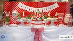 Christmas Candy Bar // Sweet Table by niner bakes, via Flickr