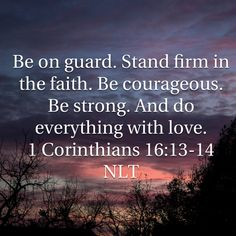 1 Corinthians Be on guard. Stand firm in the faith. Bible Verse Pictures, Bible Verses Quotes, Encouragement Quotes, Bible Scriptures, Faith Quotes, Do Everything In Love, Praying To God, Prayer Warrior, Rhone