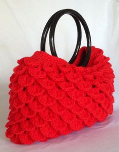Crocheted Crocodile Stitch Handbag