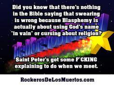 Swearing ain't blaspheme.  #biblicalmyths #swearing #cursing #humor