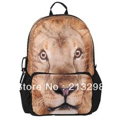 Find More School Bags Information about the school knapsack, School bags for children, unisex animal Lion Printing, iPad, iPhone pocket, BBP 111 free shipping,High Quality the leather bag,China bag shipping Suppliers, Cheap bag bag from Hello Katze on Aliexpress.com