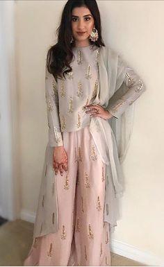 Embroidered chiffon dress.