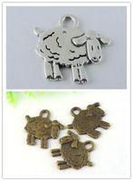 60 шт. старину бронзовый тон прекрасный овцы Bracelt Accesstories Findings15 * 10 * 1 мм 38933/39007