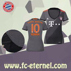 fc-eternel:Maillot Bayern Munich Femme (ROBBEN 10) Exterieur 2016/2017 Thai Edition Maillot Bayern Munich, Lewandowski, Football, Wetsuit, Sports, Baby Born, Woman, Soccer, Scuba Wetsuit