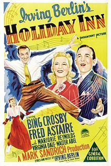 Directed by	Mark Sandrich  Produced by	Mark Sandrich  Written by	Irving Berlin (idea)  Elmer Rice (adaptation)  Claude Binyon (screenplay)  Starring	Bing Crosby  Fred Astaire  Marjorie Reynolds  Virginia Dale  Walter Abel  Louise Beavers  Irving Bacon  Music by	Irving Berlin  Distributed by	Paramount Pictures  Release date(s)	August 4, 1942