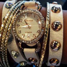Watch wrap bracelet