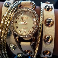 Watch wrap bracelet.