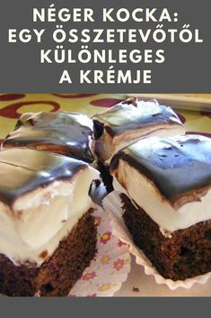 Sweet Desserts, Sweet Recipes, Delicious Desserts, Dessert Recipes, Hungarian Desserts, Hungarian Recipes, Smoothie Fruit, Twisted Recipes, Healthy Muffins