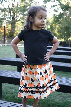 Sew Like My Mom | basic skirt with rick rack