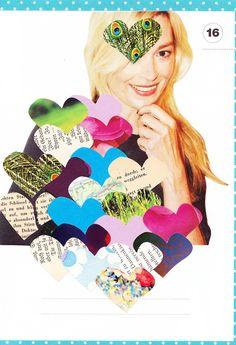 Collage mit Herzen