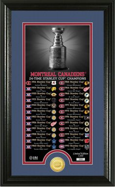 "#MontrealCanadiens #StanleyCup #HighlandMint ""Legacy"" Supreme Bronze Coin Panoramic Photo Mint, $59.99 (http://www.aaasportsmemorabilia.com/products.php?product=Montreal-Canadiens-""Legacy""-Supreme-Bronze-Coin-Panoramic-Photo-Mint/)"