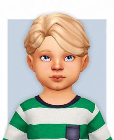 "naevys-sims: "" new male hairstyles converted for toddlers! You can find adult versions here Los Sims 4 Mods, Sims 4 Game Mods, Sims 4 Hair Male, Sims Hair, Maxis, Toddler Hair Sims 4, Toddler Girls, Sims 4 Stories, The Sims 4 Cabelos"