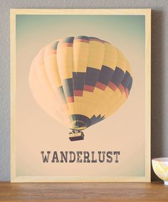 Have you ever been in a hot air balloon? It is unbelievable. :: 'Wanderlust' Print by Rebecca Peragine Studio