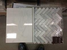 Faux Marble Bathroom Tiles, ao mooreland carrara tile with allen & roth carrara marble, both Lowes