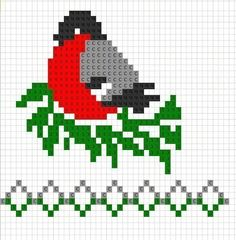 bird- graph for knitting or cross stitch Knitting Charts, Knitting Socks, Knitting Stitches, Baby Knitting, Knitting Patterns, Crochet Patterns, Crochet Designs, Crochet Baby, Modern Cross Stitch Patterns
