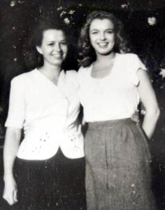 Marilyn and her half sister Berniece yr old Norma Jeane meets her half sister for the first time. Joe Dimaggio, Montgomery Clift, Tony Curtis, Cary Grant, Clark Gable, The Misfits, Norma Jean Marilyn Monroe, Norma Jeane, Famous Women
