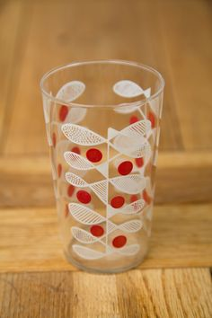 1950's Printed Drinking Glass.