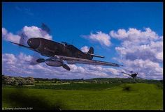 Tommy Anderson - A pair of bf-109s