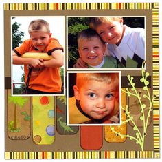 scrapbook layout using paper strips