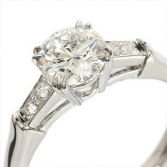 Harry Winston 950 Platinum Diamond Solitaire Ring US Size 4 With Box/Cert Harry Winston, Diamond Solitaire Rings, Fine Jewelry, Jewels, Engagement Rings, Vintage, Box, Women, Enagement Rings