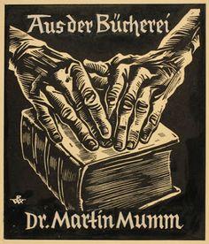 Rudolf Warnecke: Exlibris, Aus der Bücherei, Dr. Martin Mumm, 1951