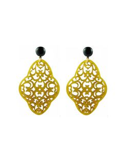 Katie Bartels Jewelry // Preeti Earrings // saffron // $68 // BLACK FRIDAY 30% DISCOUNT with code Katie30 // click to purchase