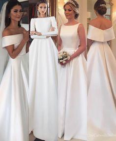 Simply Wedding Dress, Classy Wedding Dress, Muslim Wedding Dresses, Dream Wedding Dresses, Bridal Dresses, Wedding Gowns, One Shoulder Wedding Dress, Bride Dress Simple, Classy Dress