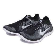 [NIKE] Nike NIKE FREE 4.0 FLYKNIT free 4.0 fly knit 717075-001 15SU 001BLK / WHT 26