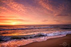 Sunrise in Kill Devil Hills (sunrise+sunset Spring beach waves ). Photo by theobxbeachbum