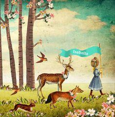 Geboortekaartje nostalgisch dieren parade in het bos. Het beste van vintage, nostalgisch en retro komen samen in dit geboortekaartje. #geboortekaartje #birthannouncement copyright Studio POPPY   POPPY-Geboortekaartje.nl