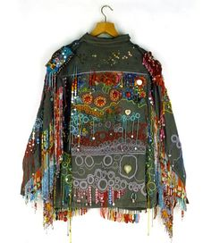 Richard Preston- beads embroidery on military jackets