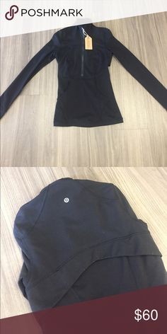 Lululemon Half-Zip Excellent condition - cotton - Price firm no trades - buy for less & more pics at www.chicboutiqueconsignments.com! MA's #1 designer consignment boutique! lululemon athletica Tops Sweatshirts & Hoodies