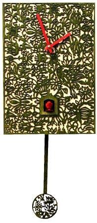 Original Black Forest Clock: Order Cuckoo Clock Quartz-movement Modern-Art-Style by Rombach & Haas ( for USD at the Cuckoo-Palace. Cuckoo Clocks For Sale, Modern Cuckoo Clocks, Modern Art Styles, Modern Design, Green Quartz, Filigree Design, Black Forest, Decorating Tips, Fashion Art