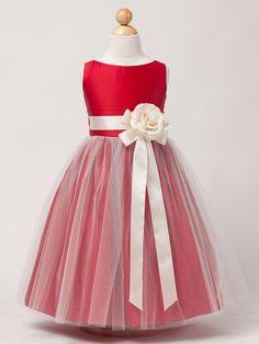 Red Vintage Satin Tulle Dress